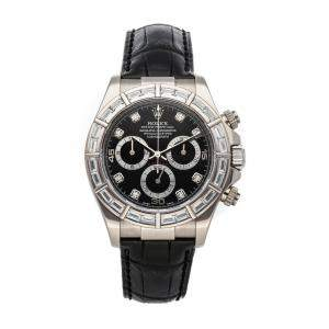Rolex Black Diamonds 18K White Gold Cosmograph Daytona 116589RBR Men's Wristwatch 40 MM