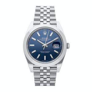 Rolex Blue Stainless Steel Datejust 126300 Men's Wristwatch 41MM