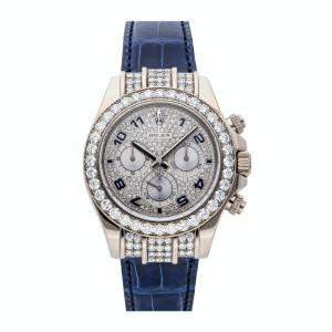 Rolex Silver Diamonds 18K White Gold Cosmograph Daytona 116599RBR Men's Wristwatch 40 MM