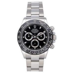 Rolex Black Stainless Steel Cosmograph Daytona 116500LN Men's Wristwatch 40 MM