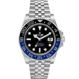 ساعة يد رجالية رولكس جي أم تي ماستر أي أي 126710 ستانلس ستيل أسود 40 مم
