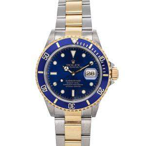 Rolex Blue 18K Yellow Gold And Stainless Steel Submariner Date 116613 Men's Wristwatch 40 MM