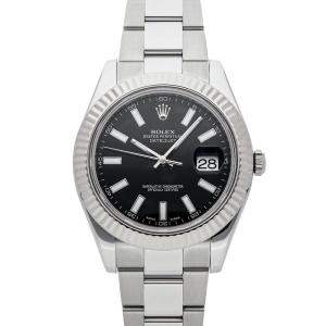 Rolex Black Stainless Steel Datejust II 116334 Men's Wristwatch 41 MM