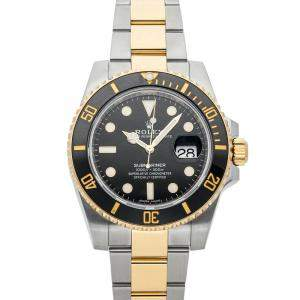 Rolex Black 18K Yellow Gold And Stainless Steel Submariner Date 116613LN Men's Wristwatch 40 MM