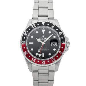 "Rolex Black Stainless Steel GMT-Master II ""Coke"" 16710 Men's Wristwatch 40 MM"