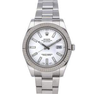 Rolex White Stainless Steel Datejust II 116334 Men's Wristwatch 41 MM