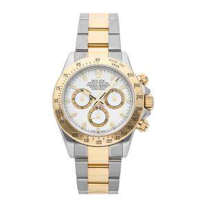 Rolex White 18K Yellow Gold And Stainless Steel Cosmograph Daytona 116523 Men's Wristwatch 40 MM