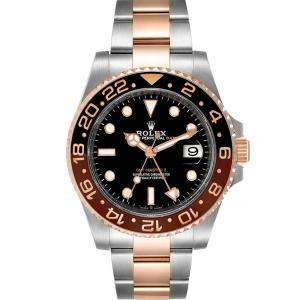Rolex Black 18K Rose Gold And Stainless Steel GMT Master II 126711 Men's Wristwatch 40 MM