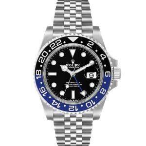 Rolex Black Stainless Steel GMT Master II Batman 126710 Men's Wristwatch 40 MM