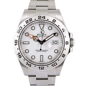 Rolex White Stainless Steel Explorer II Men's Wristwatch 42 MM