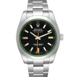 Rolex Black Stainless Steel Milgauss 116400V Men's Wristwatch 40 MM
