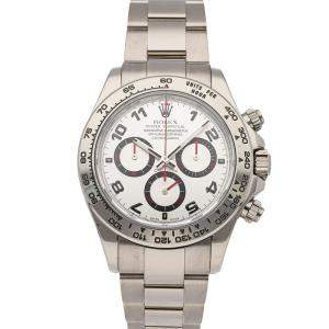 Rolex Silver 18K White Gold Cosmograph Daytona 116509 Men's Wristwatch 40 MM