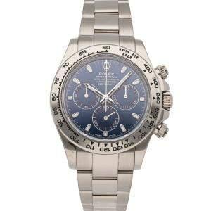 Rolex Blue 18K White Gold Cosmograph Daytona 116509 Men's Wristwatch 40 MM