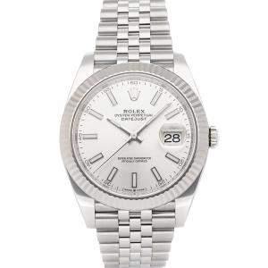 Rolex Silver Stainless Steel Datejust 126334 Men's Wristwatch 41 MM
