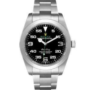 ساعة يد رجالية رولكس إير كينغ 116900 أويستر بربيتوال ستانلس ستيل سوداء 40 مم