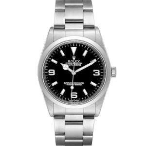 ساعة يد رجالية رولكس إكسبلورر  I 14270  ستانلس ستيل سوداء 36 مم