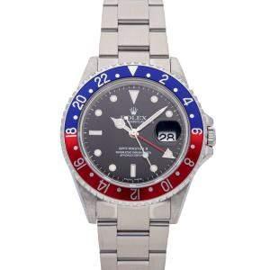 "Rolex Black Stainless Steel GMT-Master II ""Pepsi"" 16710 Men's Wristwatch 40 MM"