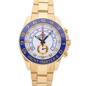 Rolex White 18K Yellow Gold Yacht-Master II 116688 Men's Wristwatch 44 MM
