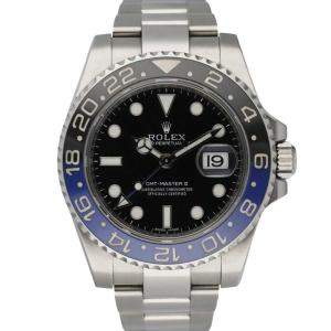 Rolex Black Stainless Steel GMT Master II 116710 Batman Men's Wristwatch 40 MM