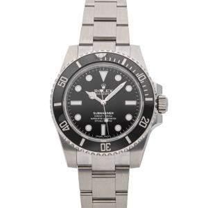 Rolex Black Stainless Steel Submariner 114060 Men's Wristwatch 40 MM