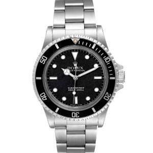 Rolex Black Stainless Steel Submariner Spider Vintage 5513 Men's Wristwatch 40 MM