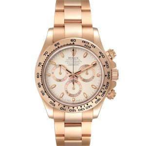 Rolex Silver 18K Rose Gold Cosmograph Daytona 116505 Men's Wristwatch 40 MM