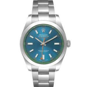 Rolex Blue Stainless Steel Milgauss 116400GV Men's Wristwatch 40 MM