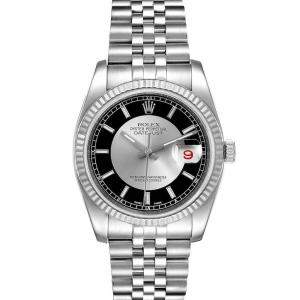 Rolex Tuxedo 18K White Gold And Stainless Steel Datejust 116234 Men's Wristwatch 36 MM