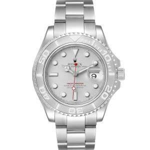 Rolex Platinum Stainless Steel Yachtmaster 16622 Men's Wristwatch 40 MM