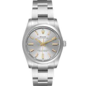 Rolex Silver Stainless Steel Oyster Perpetual 124200 Men's Wristwatch 34 MM
