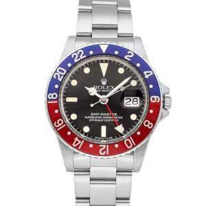 """Rolex Black Stainless Steel GMT-Master """"Pepsi"""" 1675 Men's Wristwatch 40 MM"""