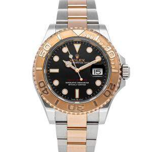 Rolex Black 18K Rose Gold And Stainless Steel Yacht-Master 126621 Men's Wristwatch 40 MM