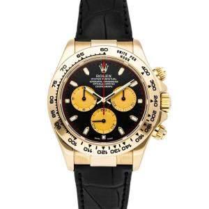 Rolex Black 18K Yellow Gold Cosmograph Daytona 116518 Men's Wristwatch 40 MM