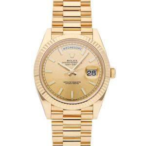 Rolex Champagne 18K Yellow Gold Day-Date 228238 Men's Wristwatch 40 MM