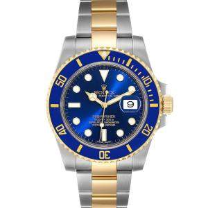 Rolex Blue 18K Yellow Gold And Stainless Steel Submariner 116613 Men's Wristwatch 40 MM