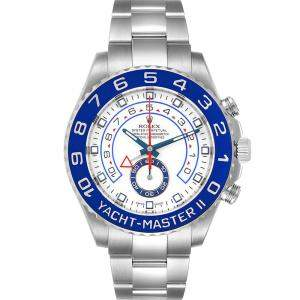 Rolex Blue Stainless Steel Yachtmaster II 116680 Men's Wristwatch 44 MM