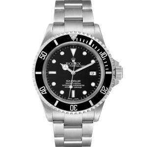 Rolex Black Stainless Steel Seadweller 4000 16600 Men's Wristwatch 40 MM