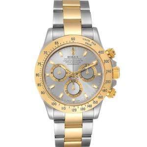 Rolex Slate 18k Yellow Gold And Stainless Steel Daytona 116523 Men's Wristwatch 40 MM