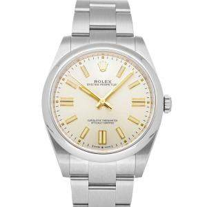 Rolex Silver Stainless Steel Oyster Perpetual 124300 Men's Wristwatch 41 MM