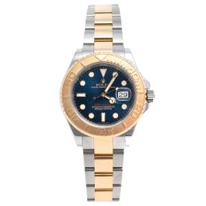 Rolex Blue 18K Yellow Gold & Stainless Steel Yacht-Master 16623 Automatic Men's Wristwatch 40 mm
