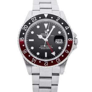 """Rolex Black Stainless Steel GMT-Master II """"Coke"""" 16710 Men's Wristwatch 40 MM"""