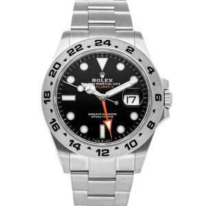 Rolex Black Stainless Steel Explorer II 226570 Men's Wristwatch 42 MM