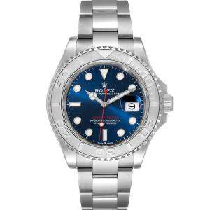 ساعة يد رجالية رولكس يخت ماستر 126622 ستانلس ستيل وبلاتين زرقاء 40 مم