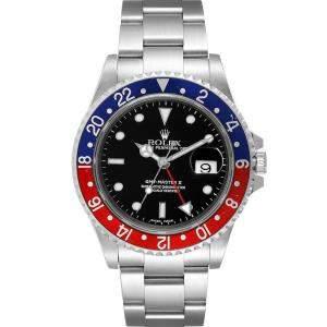 ساعة يد رجالية ؤولكس جي إم تي ماستر II بيبسي 16710 ستانلس ستيل سوداء 40 مم