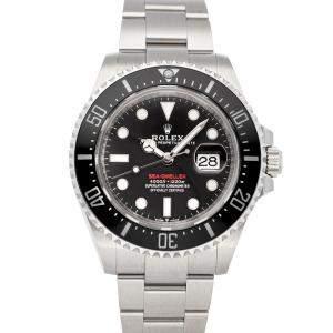 ساعة يد رجالية رولكس سي-دويلر 126600 ستانلس ستيل أسود 43 مم