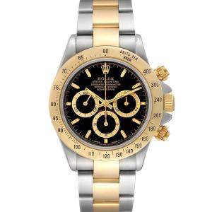Rolex Black 18K Yellow Gold And Stainless Steel Daytona 116523 Men's Wristwatch 40 MM