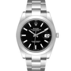 Rolex Black Stainless Steel Datejust 126300 Men's Wristwatch 41 MM