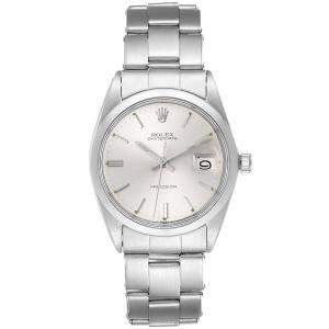 Rolex Silver Stainless Steel 6694 Vintage Automatic Men's Wristwatch 35 MM