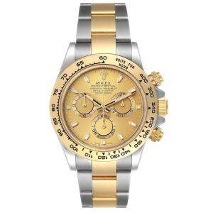 Rolex Champagne 18k Yellow Gold And Stainless Steel Cosmograph Daytona 116503 Men's Wristwatch 40 MM