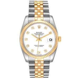 ساعة يد رجالية رولكس ديتجاست 116233 ستانلس ستيل وذهب أصفر عيار 18 ألماس أبيض 36 مم